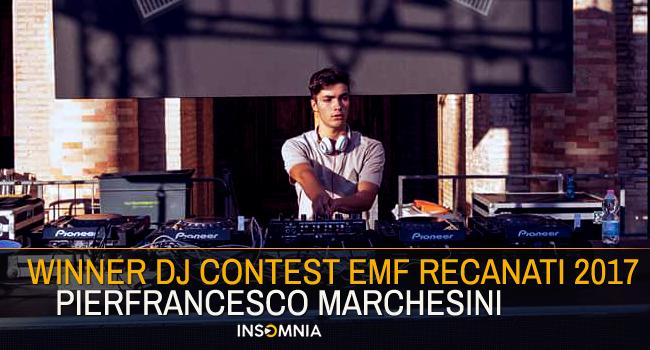 Winner DJ Contest EMF Recanati with Pierfrancesco Marchesini